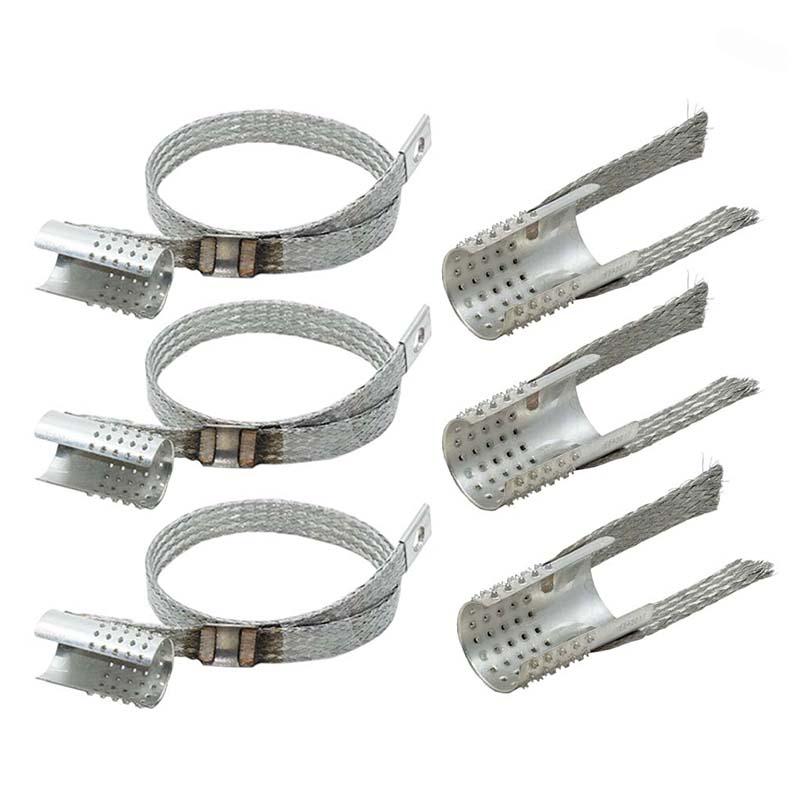Erdungsset für Kabel mit Bandschirm